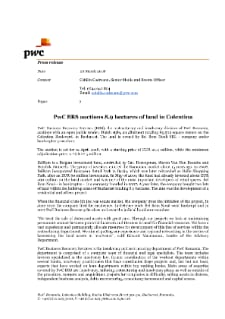 PwC BRS auctions 8.9 hectares of land in Colentina
